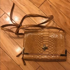 Gianni Bini Yellow Crocodile Crossbody Purse